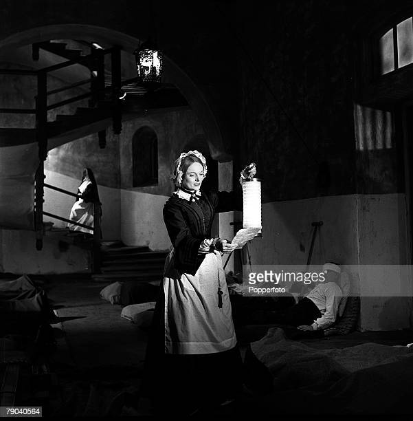 England Scenes from the film Lady with the Lamp starring British actress Anna Neagle