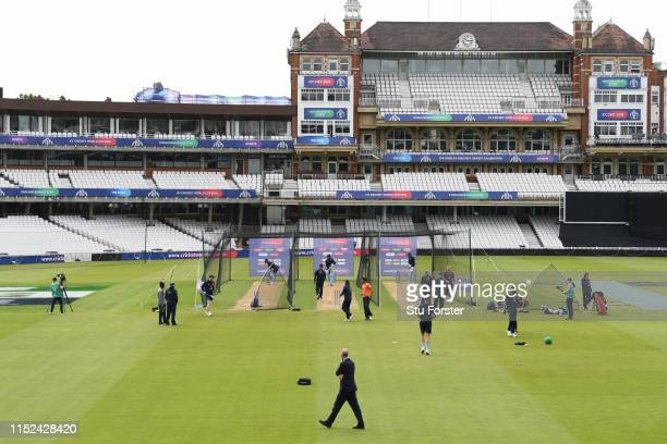 England selector Ed Smith keeps an eye on proceedings during England nets ahead of the opening match of the ICC Cricket World Cup against South...