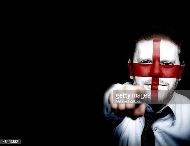 England soccer sport fan face