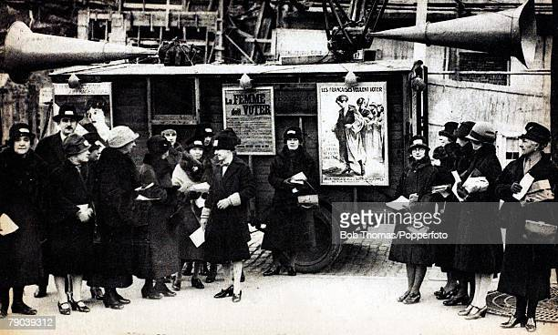 England / Social History Suffragettes Votes for women demonstration in France 1926