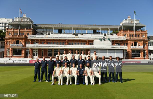 England squad and staff pictured before England nets ahead of the Test Match against Ireland at Lord's Cricket Ground on July 23 2019 in London...