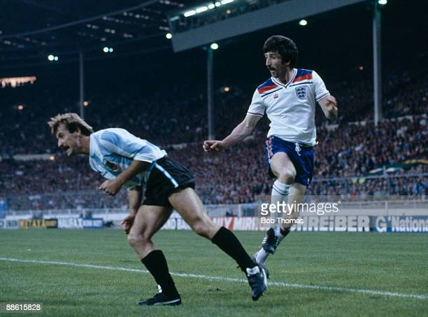 England striker David Johnson in action against Argentina at Wembley Stadium 13th May 1980 England won 31 with Johnson scoring two goals
