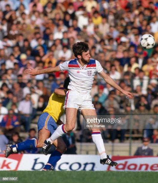 England striker Garry Birtles in action against Romania during the World Cup Qualiyfing match in Bucharest 15th October 1981 Romania won 21