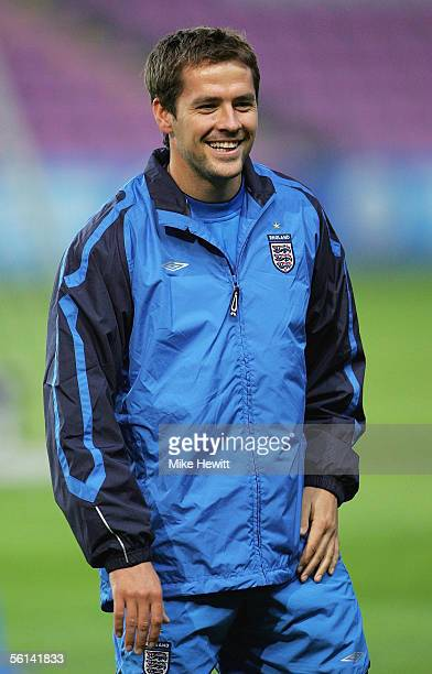 England striker Michael Owen looks on during an England training session at the Stade de Geneve on November 11, 2005 in Geneva, Switzerland.