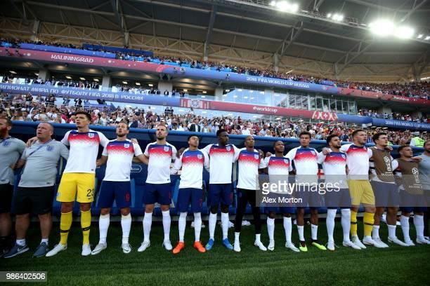 England substitutes Nick Pope Harry Kane Jordan Henderson Jesse Lingard Danny Welbeck Ashley Young Raheem Sterling Dele Alli Kyle Walker Jack Butland...