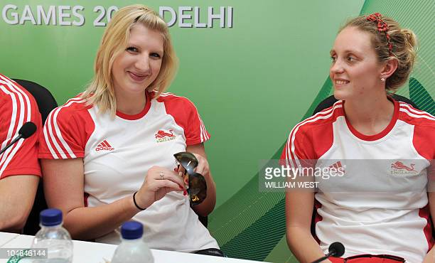 England swimmer Rebecca Adlington talks to the media at the athlete's village saying that pulling out of the troubled Games was never an option and...