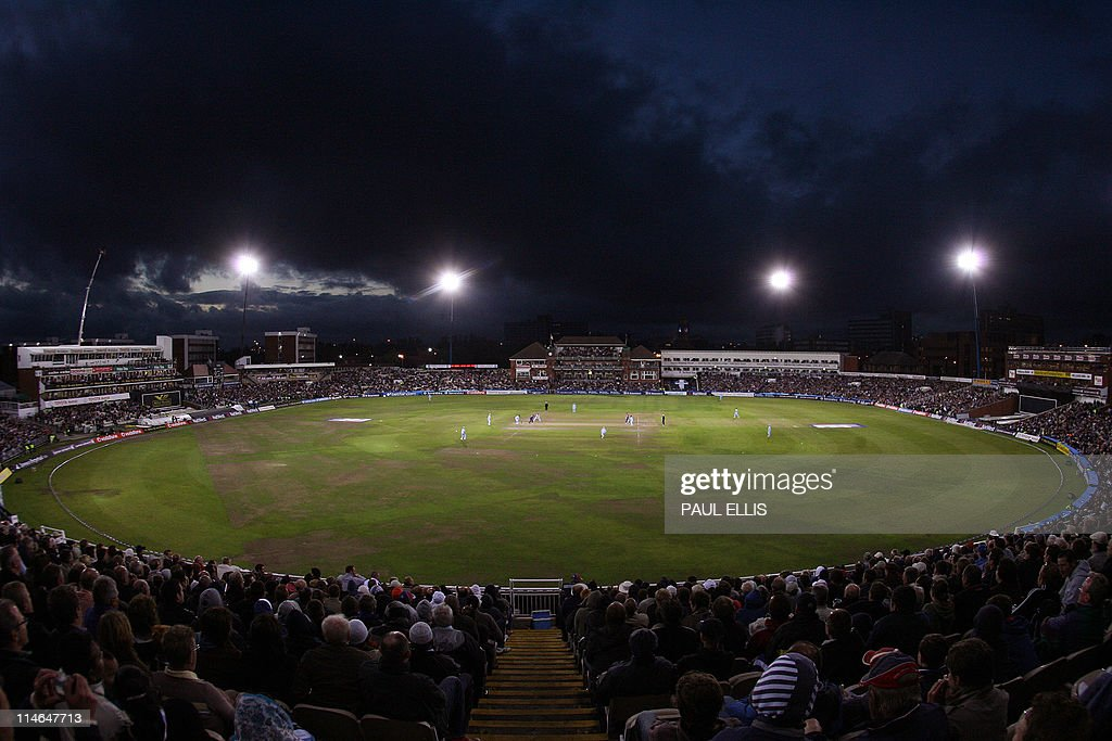 England take on India in a floodlit One Day International cricket match at Old Trafford, Manchester, north-west England, 30 August 2007.