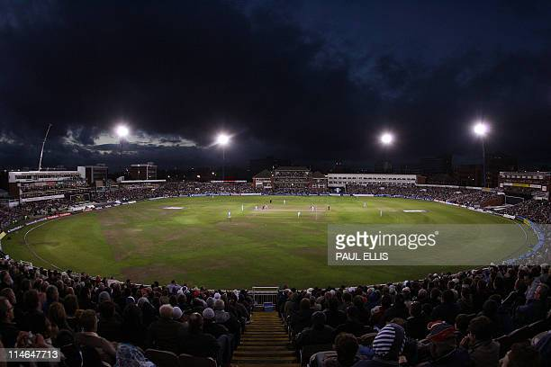 England take on India in a floodlit One Day International cricket match at Old Trafford Manchester northwest England 30 August 2007 AFP PHOTO/PAUL...