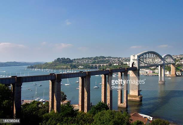 England, Tamar, Brunels rail bridge
