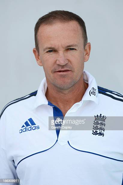 England team director Andy Flower poses for a portrait on November 13 2012 in Ahmedabad India