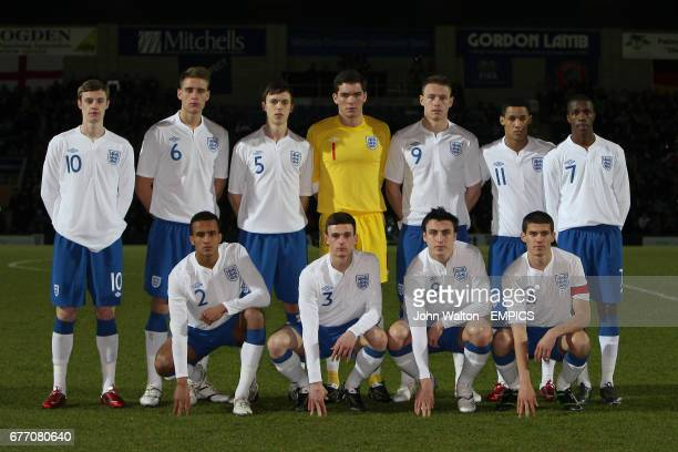 England Team Group England's Will Keane George Taft Tom Thorpe Lee Nicholls Connor Wickham Tom Ince and Wilfried Zaha James Hurst Jack Robinson...