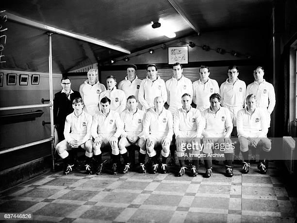 England Team Group R A B Crowe D C Manley Simon Clarke A M Davis B J Wightman J E Owen B A Dovey Nick DrakeLee J G Wilcox Budge Rogers Malcolm...