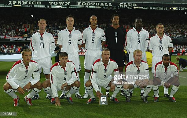 England team group taken before the International Friendly match between England and Croatia held on August 20 2003 at Portman Road in Ipswich...