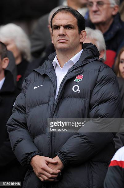England Team Manager Martin Johnson during the Investec Challenge match between England and Australia at Twickenham in London England United Kingdom