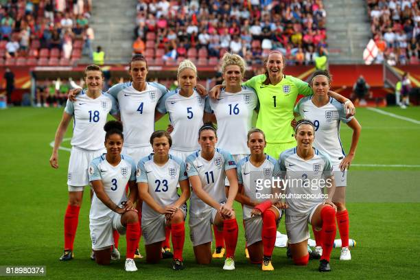 England team pose for a team photo during the UEFA Women's Euro 2017 Group D match between England and Scotland at Stadion Galgenwaard on July 19...