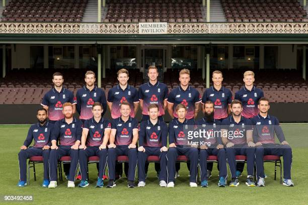 England team poses during the England One Day International series headshots session at Sydney Cricket Ground on January 10 2018 in Sydney Australia