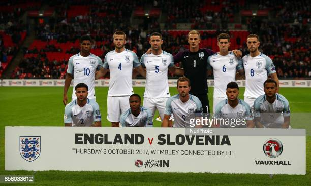 England Team Shoot during FIFA World Cup Qualifying European Region Group F match between England and Slovenia at Wembley stadium London 05 Oct 2017