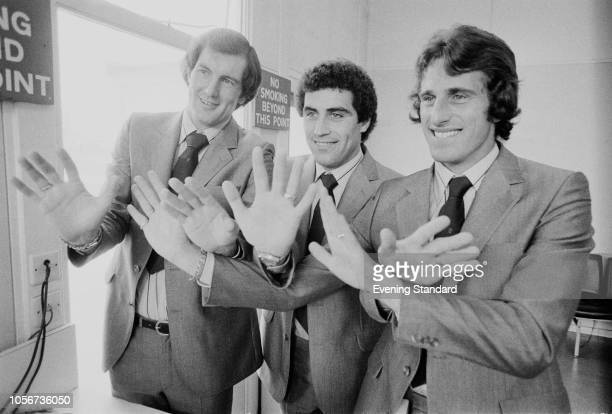 England team soccer players Peter Shilton, Ray Clemence, and Trevor Francis, UK, 4th June 1979.