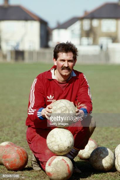 England Test Cricket player Graham Gooch pictured as he prepares for the up coming season by training with West Ham United Football Club at Chadwell...