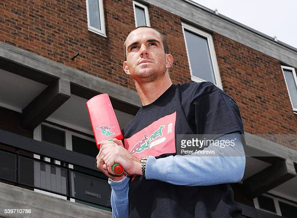 England Test cricketer Kevin Pietersen and Jessica Taylor of pop group Liberty X launch 'Urban Cricket' a joint initiative between the ECB and...