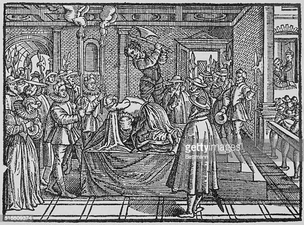 The beheading of Mary Stuart Queen of Scots
