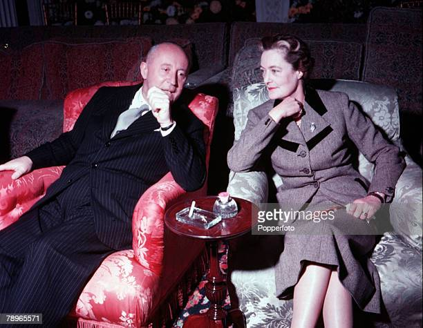 England The Duchess of Marlborough is pictured with French fashion designer Christian Dior at Blenheim Palace