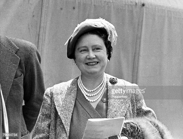 England The Queen Mother is pictured at a Horse Race meeting