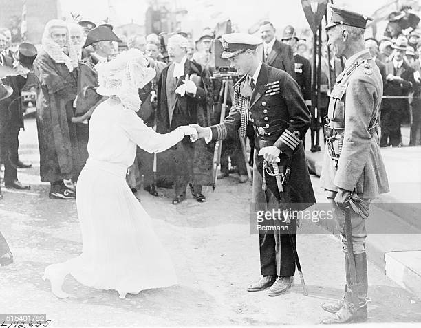 England: The Welcome To The Prince Of Wales. Lady Astor arrived in England just in time to greet the Prince of Wales on his return from the orient....