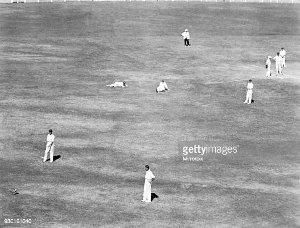 England tour of Australia for the Ashes England v Australia third test test match at Melbourne cricket ground Jack Hobbs and Herbert Sutcliffe try to...