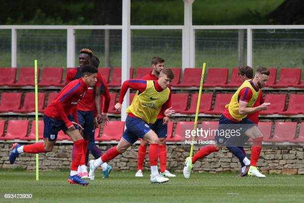 England U21 players during a training session at St Georges Park on June 7 2017 in BurtonuponTrent England