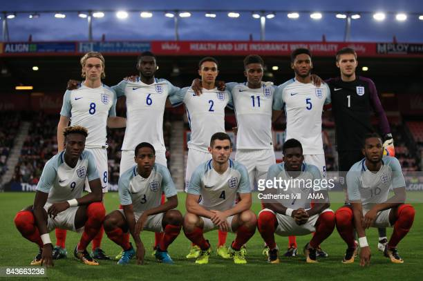 England U21 team group photo during the UEFA Under 21 Championship Qualifier match between England and Latvia at Vitality Stadium on September 5 2017...