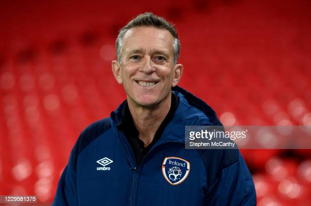 England , United Kingdom - 11 November 2020; Newly appointed FAI Chief Executive Jonathan Hill during a Republic of Ireland training session at...