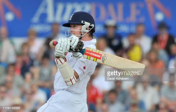 England v Australia 4th Test Headingley 3rd Day. 9/8/09.GRAENE SWANN HITS FOUR OFF BEN HILFENHAUS.