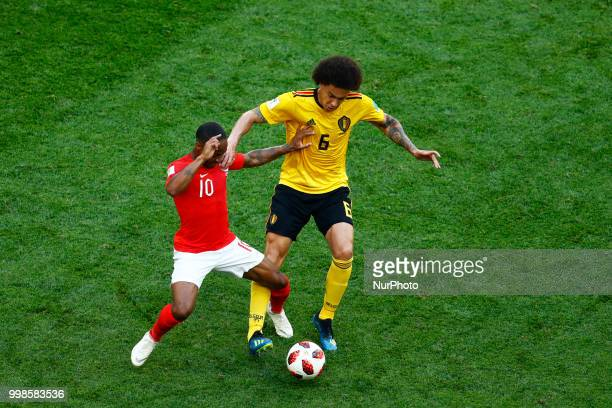 England v Belgium Play off for third place final FIFA World Cup Russia 2018 Raheem Sterling and Alex Witsel at Saint Petersburg Stadium in Russia on...