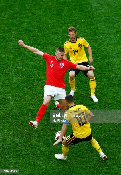 England v Belgium Play off for third place final FIFA World Cup Russia 2018 Eric Dier between Dries Mertens and Eden Hazard at Saint Petersburg...