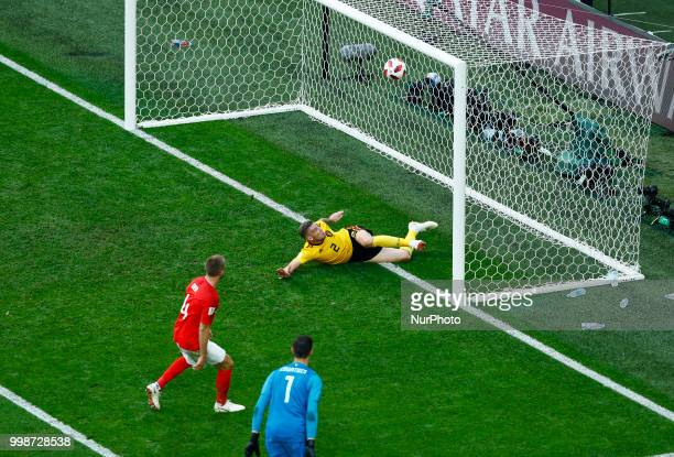 England v Belgium Play off for third place final FIFA World Cup Russia 2018 The decisive defensive tackle by Toby Alderweireld on Eric Dier shot at...