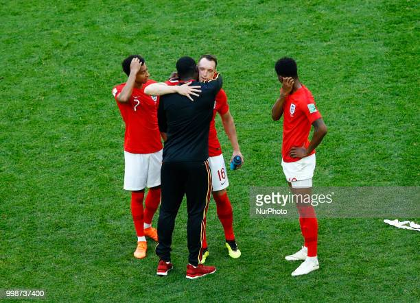 England v Belgium Play off for third place final FIFA World Cup Russia 2018 Jesse Lingard Phil Jones Marcus Rashford of England with the Manchester...