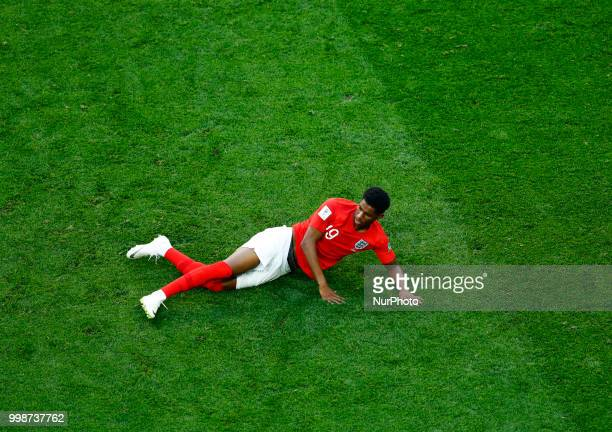 England v Belgium Play off for third place final FIFA World Cup Russia 2018 Marcus Rashford dejection at Saint Petersburg Stadium in Russia on July...