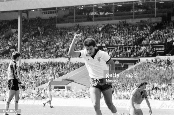 England v Netherlands Schoolboy International at Wembley Stadium Saturday 9th June 1984 Mark Burke of Aston Villa scores a hattrick