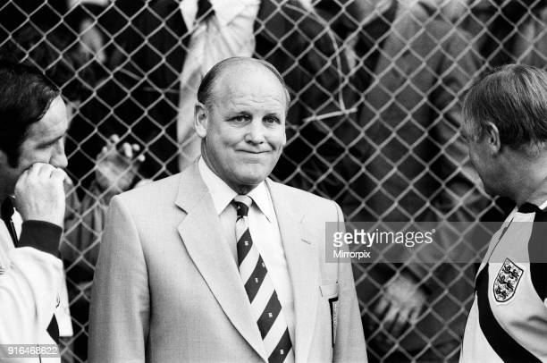 England V Norway, World Cup Qualifying match. Ullevaal Stadium in Oslo, Norway. Norway won 2-1. Pictured, England manager Ron Greenwood looking...