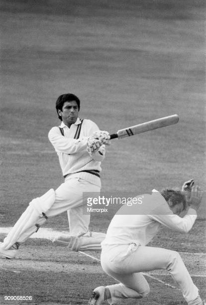 England v Pakistan 2nd Test 1st innings at Lords David Lloyd take evasive action at silly point 8th July 1974