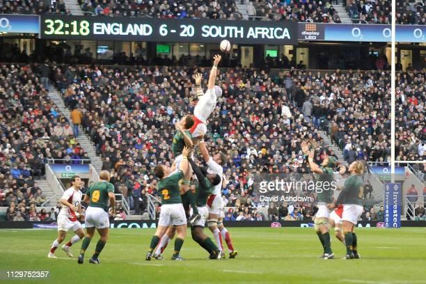 England v South Africa Rugby Autumn International at Twickenham Stadium London 22nd November 2008