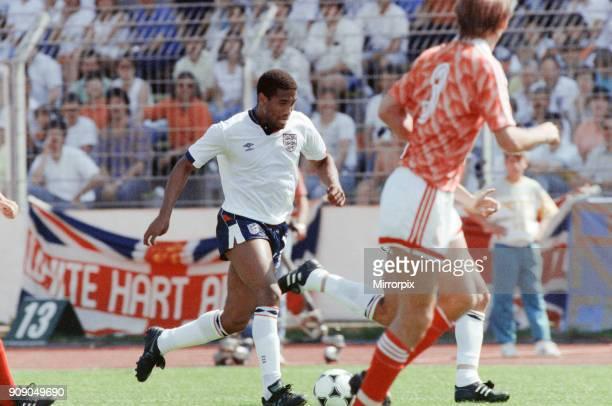 England v Soviet Union 1-3 1988 European Championships, Hanover Germany Group Match B. England's John Barnes on the ball. 18th June 1988.