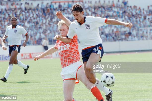 England v Soviet Union 1-3 1988 European Championships, Hanover Germany Group Match B. England's Gary Lineker in action. 18th June 1988.