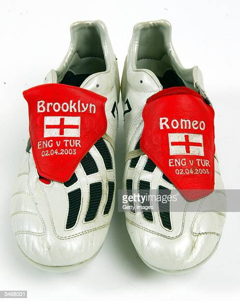 England v Turkey 2003 These are the boots that David wore for the crucial UEFA EURO 2004 qualifier against Turkey at the Stadium of Light A last...
