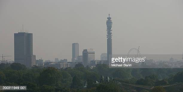 England, view of London cityscape from Primrose Hill