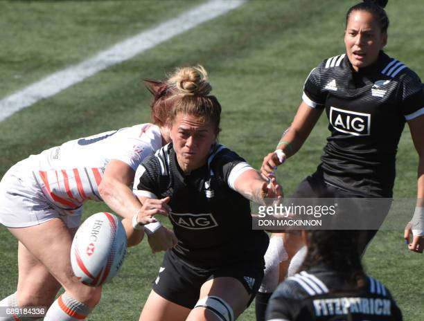 England vs New Zealand in HSBC Canada Women's Sevens Rugby action at Westhills Stadium in Langford BC May 27 2017 England won 260 over Netherlands /...