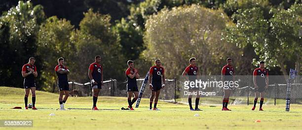 England warm up during the England training session at Sanctuary Cove on June 6 2016 ion the Gold Coast Australia