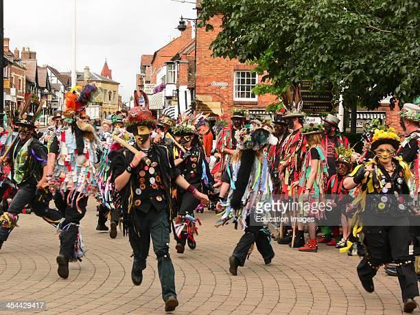 England Warwickshire StratfordOnAvon Traditional English Dance Morris Dancing