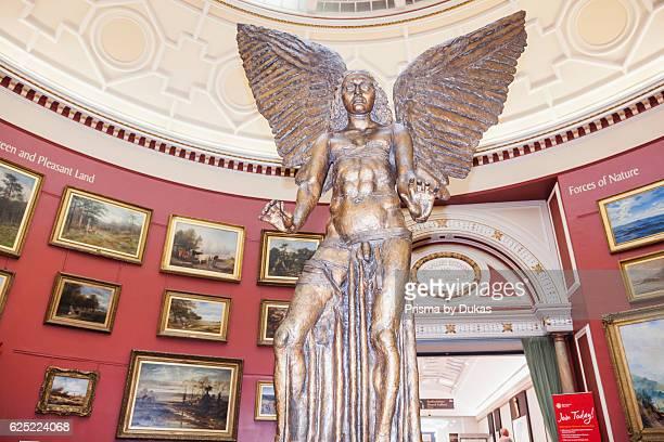England West Midlands Birmingham Birmingham Museum and Art Gallery Bronze Statue of Lucifer by Jacob Epstein
